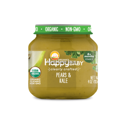 Happy Baby Clearly Crafted Jars Stage 2, 113G for 6 Months+