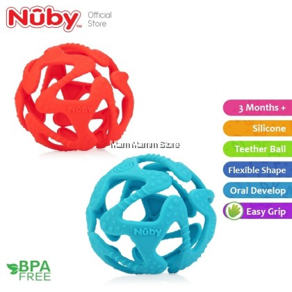 Nuby Tuggy Teething Ball for 3 months+ NB6869