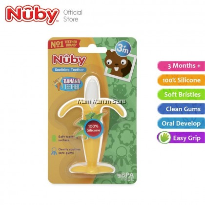 Nuby Silicone Banana Toothbrush Teether NB797