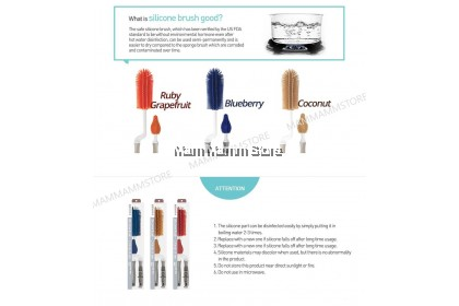 Mother-K Silicone Brush 2 Kinds Of Sets