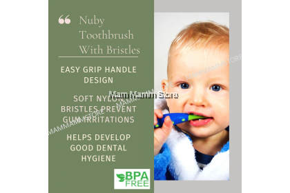 Nuby Toothbrush With Bristles For 12 Months And Above