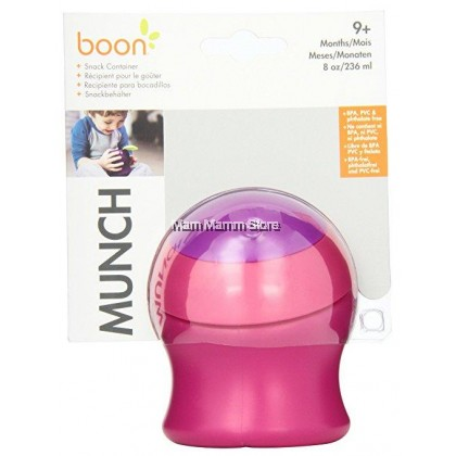 Boon Munch Snack Container Pink (9 Months) 8OZ / 236ML